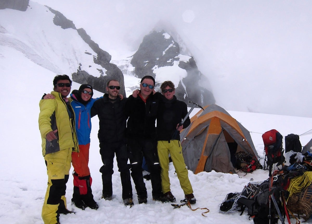 Team Ramdung, high camp, post-climb