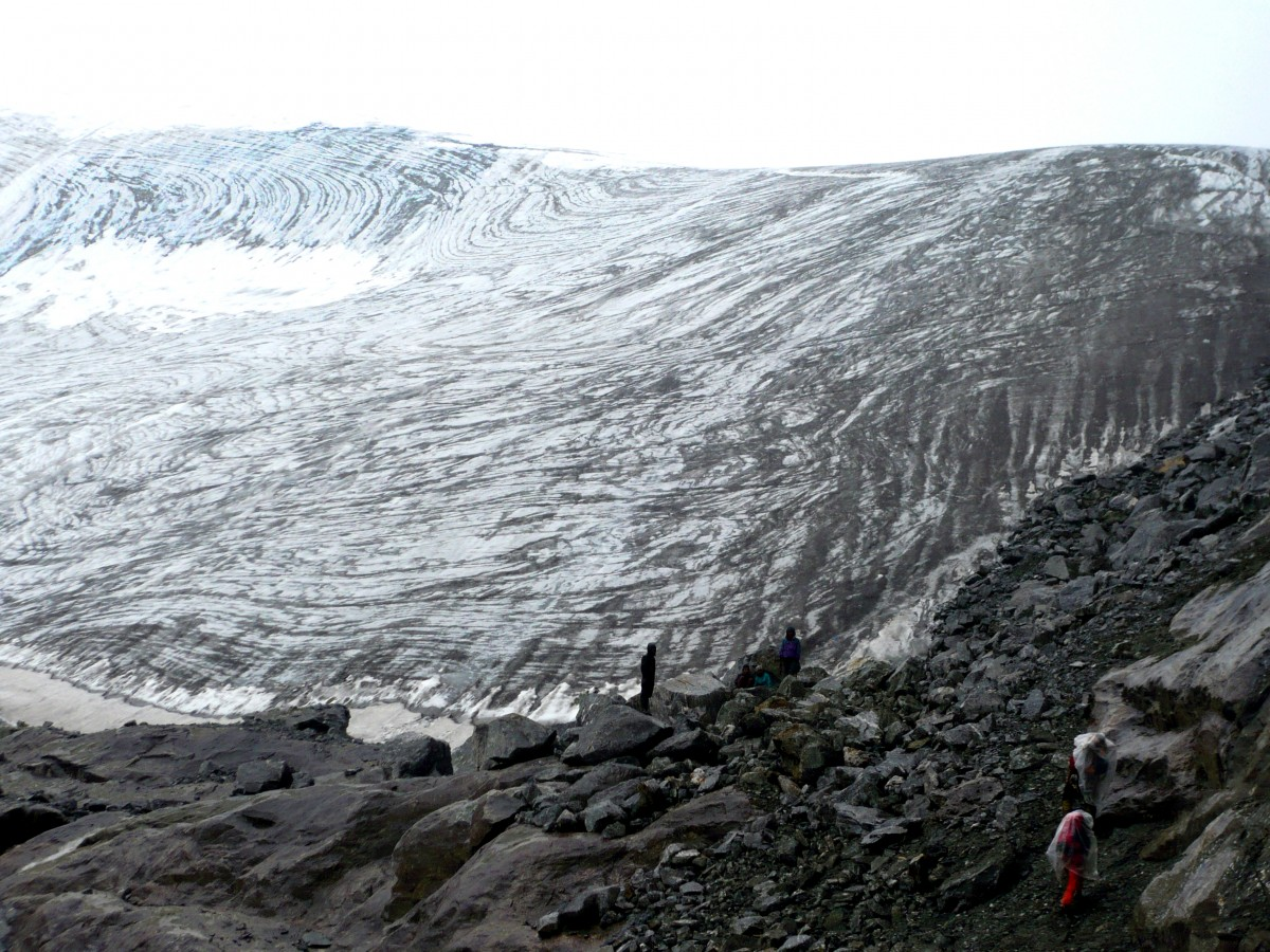 Glacier below high camp