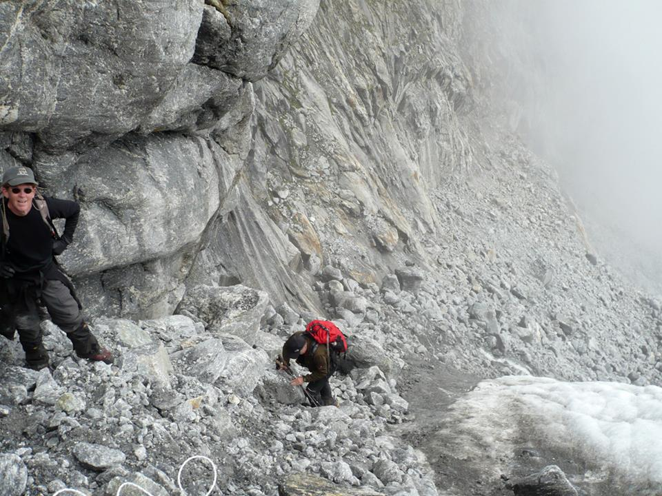 Climbing to high camp, Ramdung