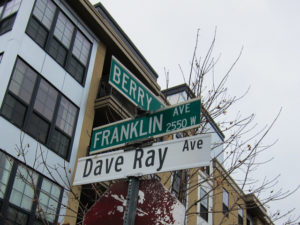 Sign for Dave Ray Avenue