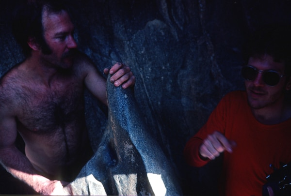Kenton Grua and Steve Tibbetts in a cave
