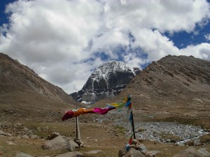 Prayer flags at the north face of Kailash