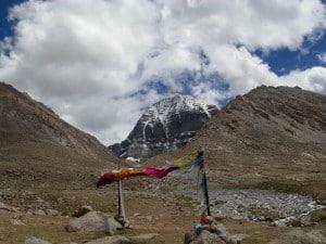Prayer flags, Mt. Kailash north face
