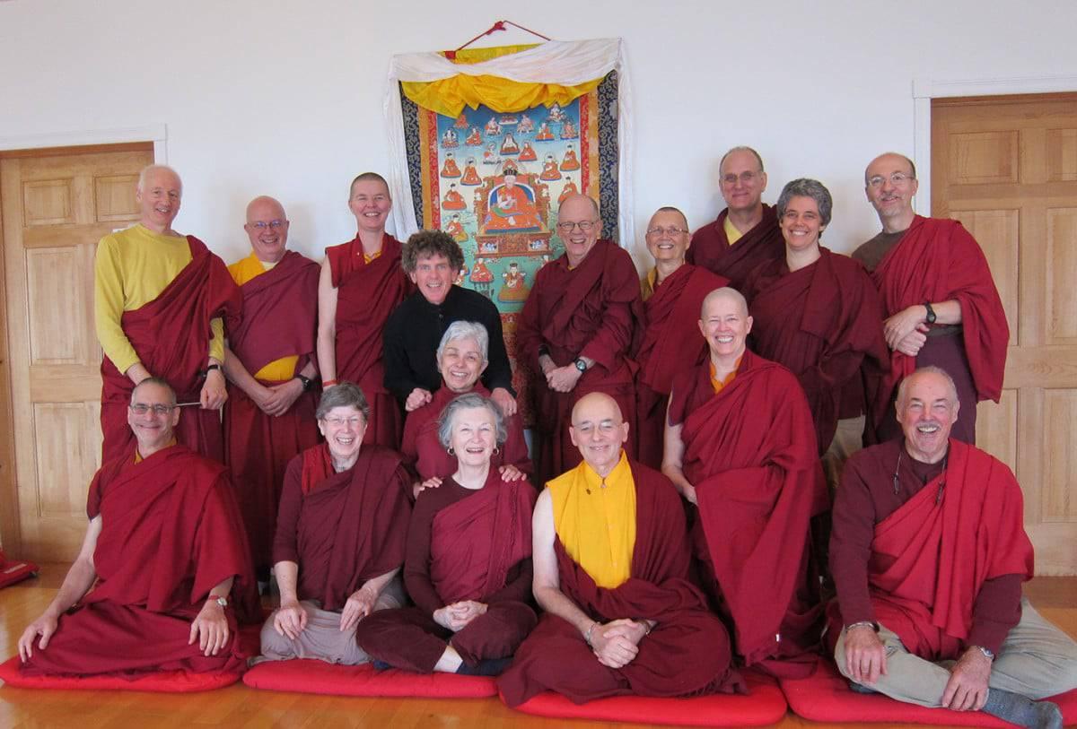 Steve with Sopa Chöling 3-year retreat, November 2016, Cape Breton