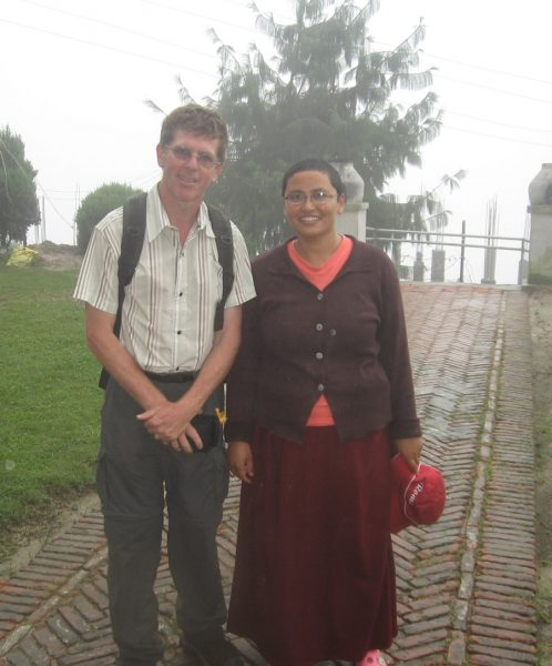 Steve and Sita at Nagi Gompa, 2010.