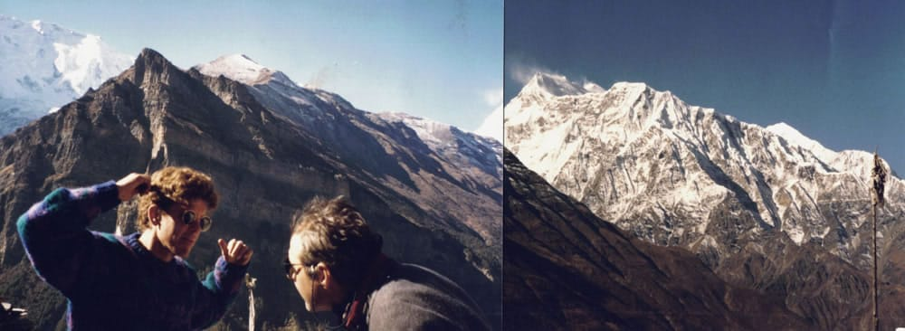 1994 Annapurnas seen looking sourh from Gyaru, with Clarke Warren