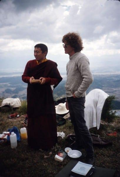 1985 Nepal, with Chokyi Nyima Rinpoche