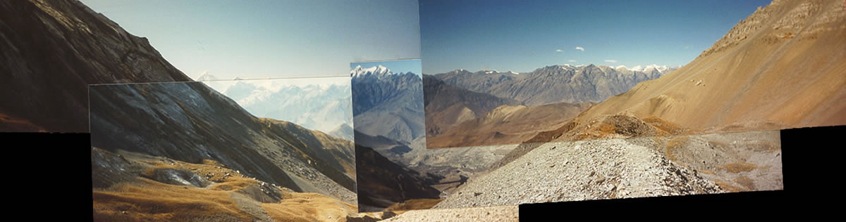 1994 view above Manang