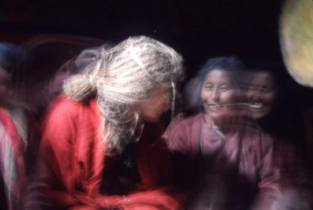 1994, Erica & abbess at nunnery, Manang